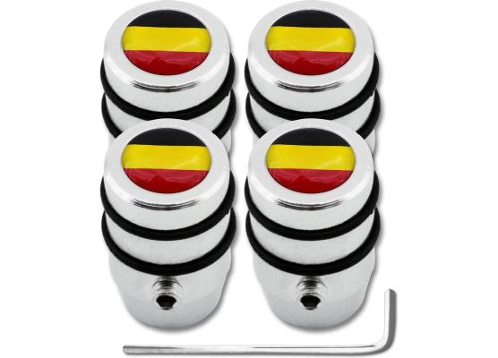 4 Belgium flag design antitheft valve caps