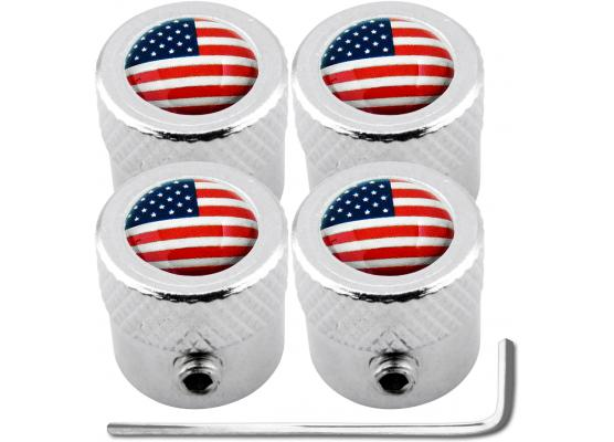 4 bouchons de valve antivol EtatsUnis USA Amérique strié