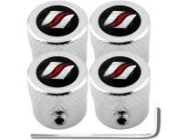 4 bouchons de valve antivol strié