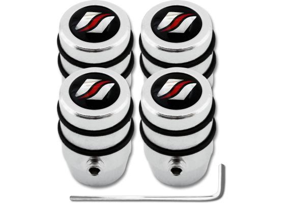 4 Luxyline design antitheft valve caps