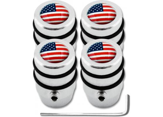 4 USA United States of America design antitheft valve caps