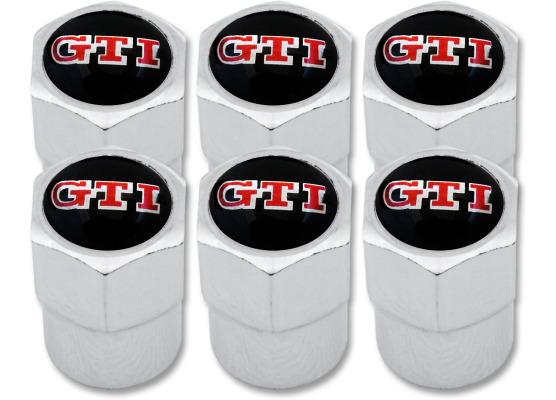 6 bouchons de valve GTI plastique