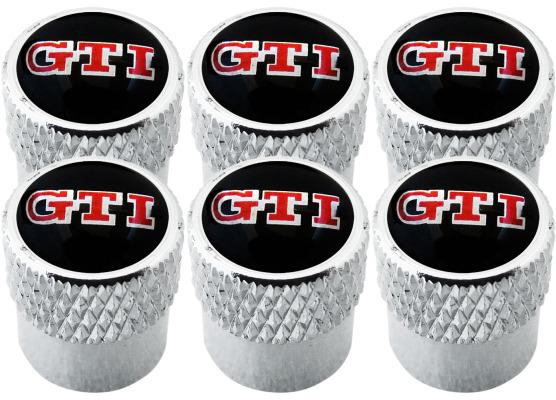 6 bouchons de valve GTI strié