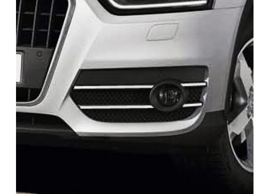 Fog lights chrome trim Audi Q3