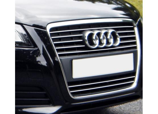 Radiator grill chrome moulding trim Audi A3 Série 2 Phase 2 0812  Audi A3 Série 2 Phase 2 Sportbac