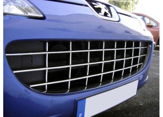 Radiator grill chrome moulding trim Peugeot 407  Peugeot 407 SW