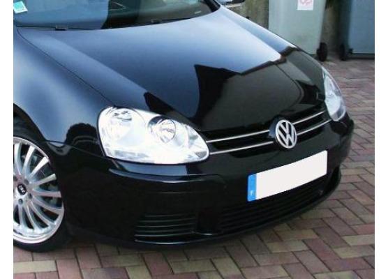 Baguette de calandre supérieure chromée VW Golf 5