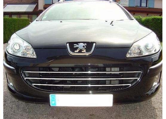 Radiator grill chrome moulding trim Peugeot 407  Peugeot 407 SW horizontal