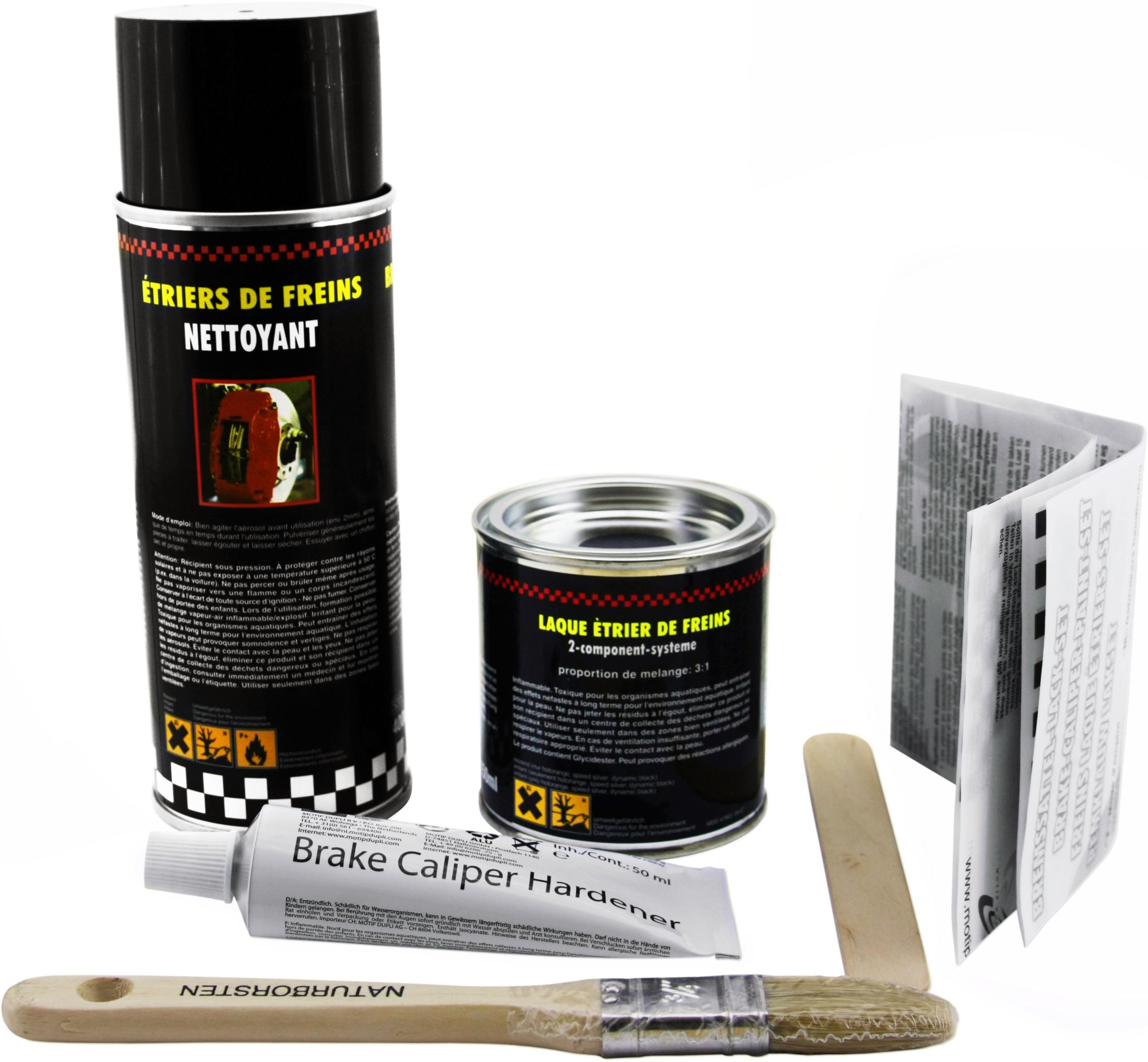 kit peinture pour etriers de frein rouge ebay. Black Bedroom Furniture Sets. Home Design Ideas