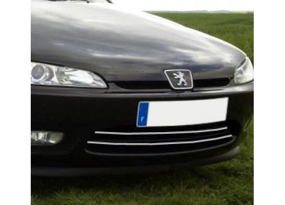 Chromleiste für Kühlergrill Peugeot 406 coupé 9703