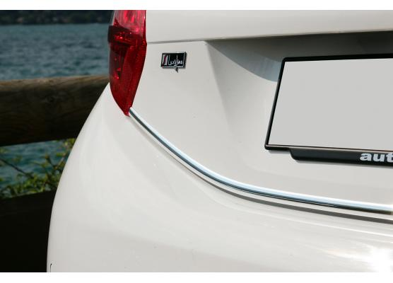 Trunk chrome trim Peugeot 208