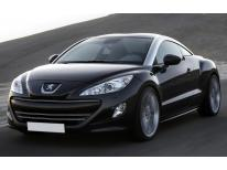Radiator grill dual chrome trim Peugeot RCZ 1012