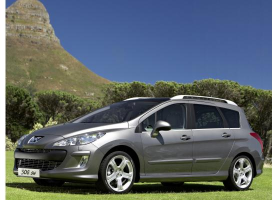 Side windows lower chrome trim Peugeot 308 SW 0814