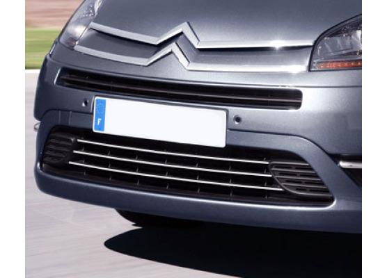 Lower radiator grill chrome trim Citroën C4 Grand Picasso 0613
