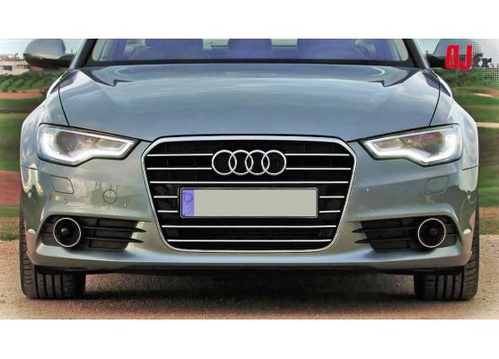 Chromleiste für Kühlergrill Audi A6 Série 4 Avant 1015  Audi A6 Série 4 Berline 1015