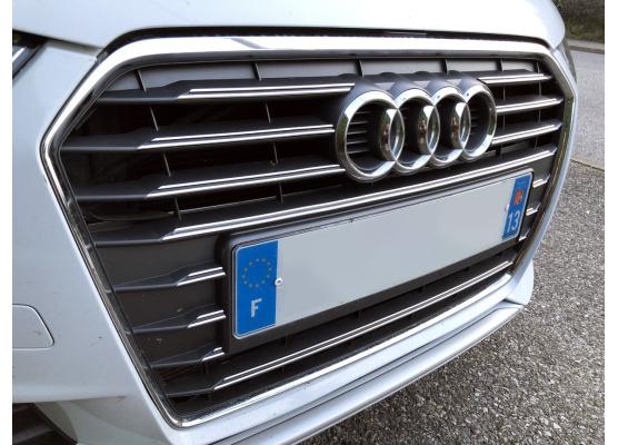 Radiator grill dual chrome trim Audi A1