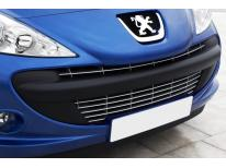 Radiator grill chrome moulding trim Peugeot 206 plus