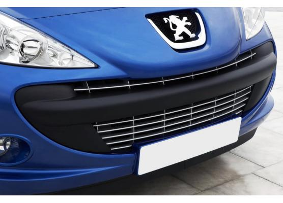 Radiator grill chrome moulding trim Peugeot 206 plus