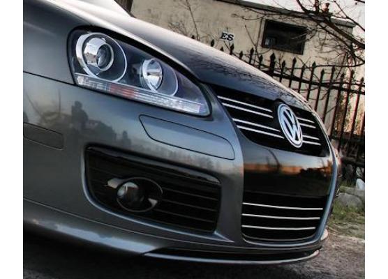 Lower radiator grill chrome trim VW Fox Golf 12345 GTI5 Plus5 SW JettaPhaetonSciroccoSharan