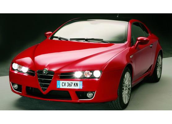 Cornice cromata per fari antinebbia Alfa Romeo Brera