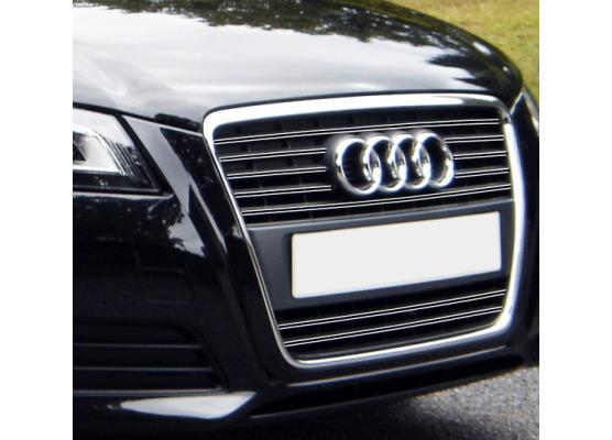 Doble moldura de calandria cromada Audi A3 Série 2 Phase 2 0812  Audi A3 Série 2 Phase 2 Sportback
