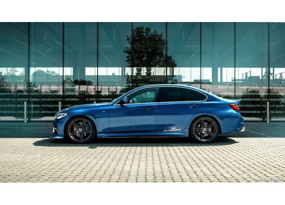 ZierChromleiste für seitliche Autofensterkonturen BMW Série 3 G20 Berline 1821  BMW Série 3 G21 T