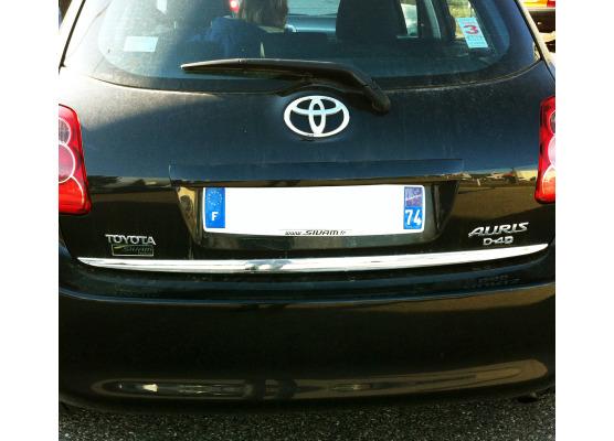 Trunk chrome trim Toyota Auris
