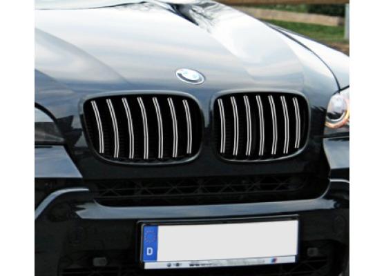 Radiator grill dual chrome trim BMW X5