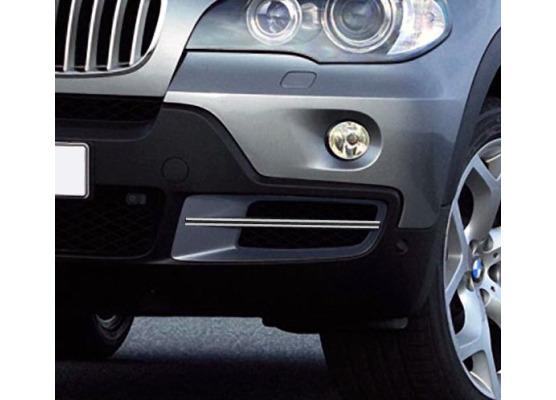 Doppia cornice cromata per fari antinebbia BMW X5