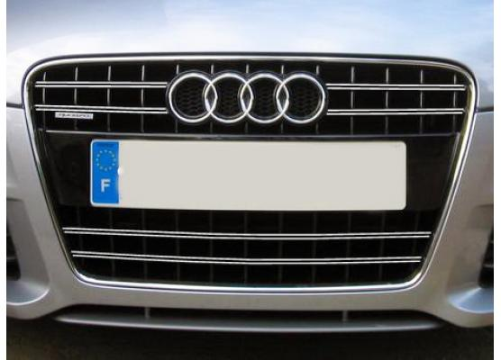 Doppia cornice per griglia radiatore cromata Audi TT Série 2 0614 Audi TT RS Audi TTS
