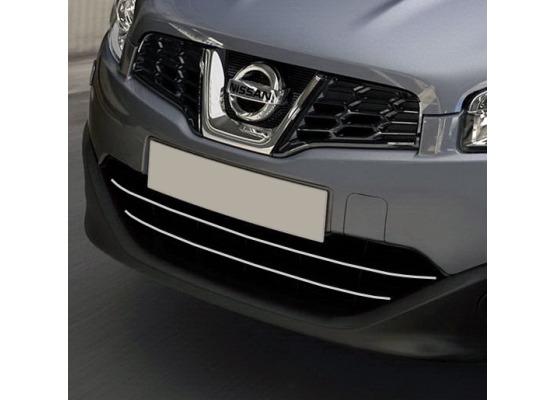 Radiator grill chrome moulding trim Nissan Qashqai 2 0810 Qashqai 2 phase 2 10142 phase 3071