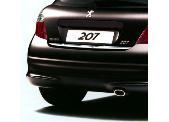 Moldura de maletero cromada Peugeot 207 0609 Peugeot 207 0921 Peugeot 207 CC 0609 Peugeot 207 CC