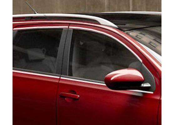 Fascia cromata di contorno dei vetri laterali Nissan Qashqai 2 08102 phase 2 10142 phase 307