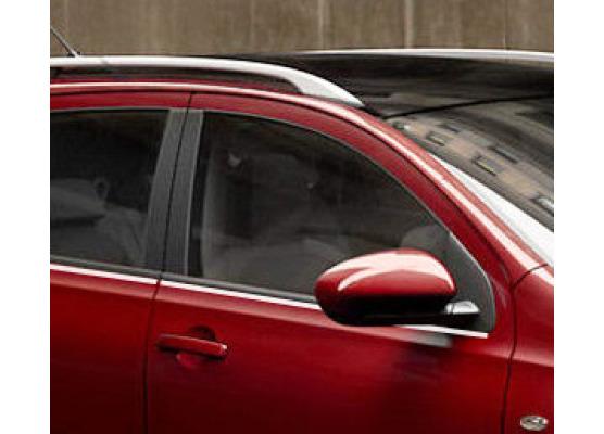 Fascia cromata di contorno inferiore dei vetri laterali Nissan Qashqai 2 08102 phase 2 10142