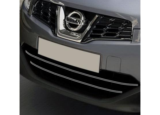 Radiator grill dual chrome trim Nissan Qashqai 2 0810 Qashqai 2 phase 2 10142 phase 30710ph