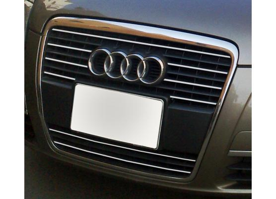 Radiator grill chrome moulding trim Audi A6 Série 3 Avant 0508  Audi A6 Série 3 Berline 0508 v1