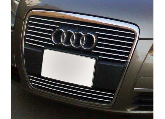 Chromleiste für Kühlergrill Audi A6 Série 3 Avant 0508  Audi A6 Série 3 Berline 0508 v2