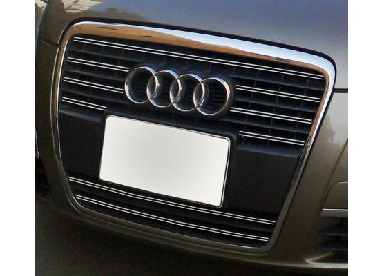 Doble moldura de calandria cromada Audi A6 Série 3 Avant 0508  Audi A6 Série 3 Berline 0508 v1