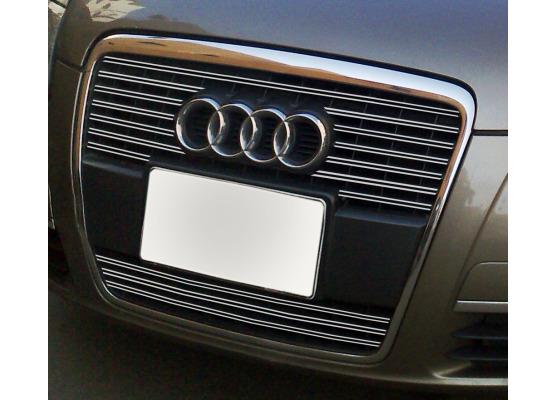 Doble moldura de calandria cromada Audi A6 Série 3 Avant 0508  Audi A6 Série 3 Berline 0508 v2