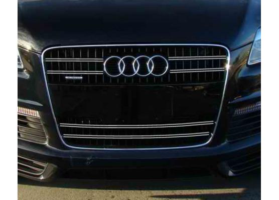 Radiator grill dual chrome trim Audi Q7