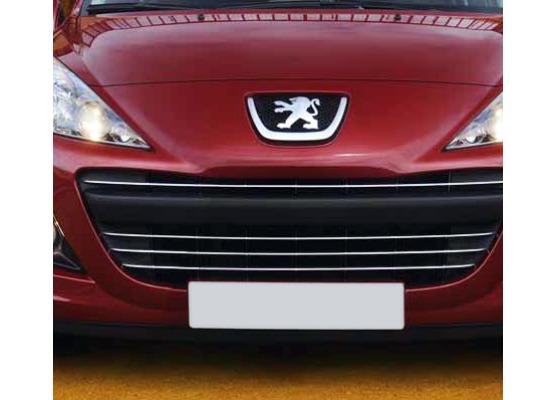 Chromleiste für Kühlergrill Peugeot 207 0920 Peugeot 207 CC 0920 Peugeot 207 SW 0920