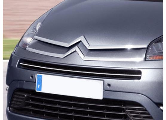 Upper radiator grill chrome trim Citroën C4 Grand Picasso 0613