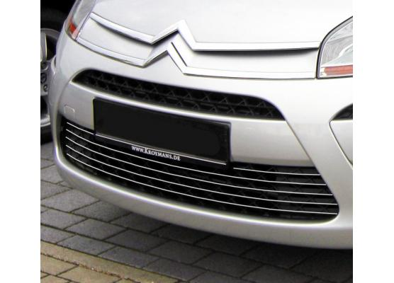 Lower radiator grill chrome trim Citroën C4 Picasso 0712