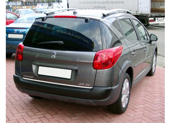 Trunk chrome trim Peugeot 206 SW Peugeot 207 SW 0609 Peugeot 306 SW Peugeot 307 SW 0105