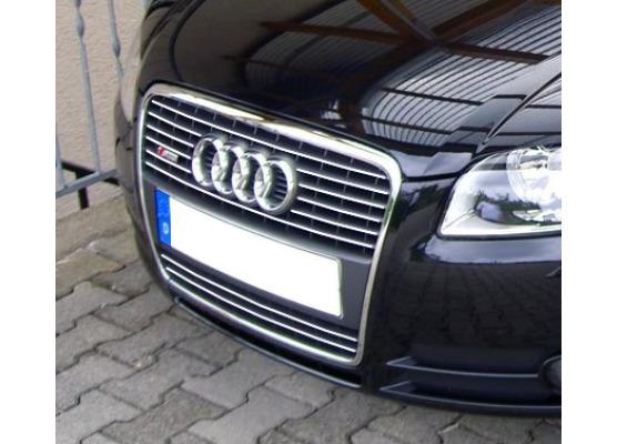 Cornice cromata griglia radiatore Audi A4 série 2 phase 2 0408  Audi S4 0308 série 2 v1