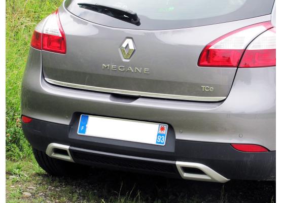 ChromZierleiste für Kofferraum Renault Mégane 3