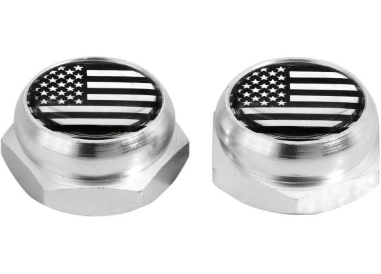 Cacherivets pour plaque dimmatriculation EtatsUnis USA Amérique argent chrome
