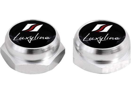 Cappucci per rivetti per targa di immatricolazione Luxyline argenteo