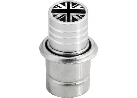 Cigarette lighter English Flag UK England British Union Jack black  chrome