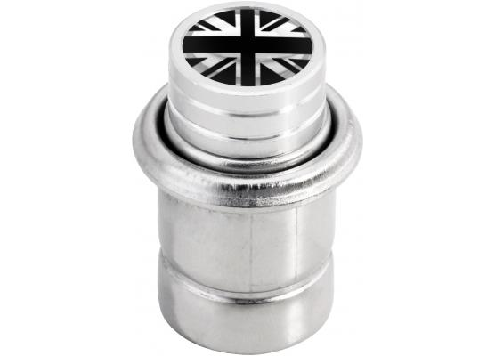 Cigarette lighter English Flag UK England British Union Jack short black  chrome